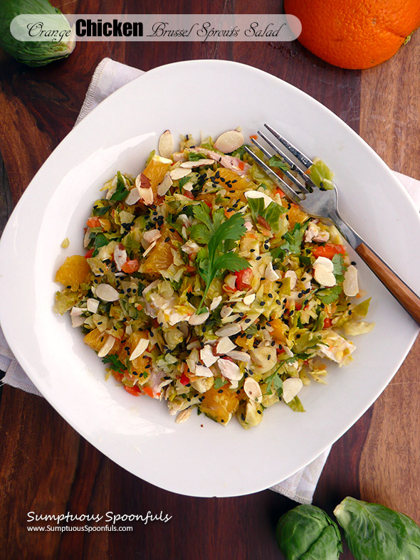 with Chinese orange ginger dressing, toasted almonds and sesame seeds
