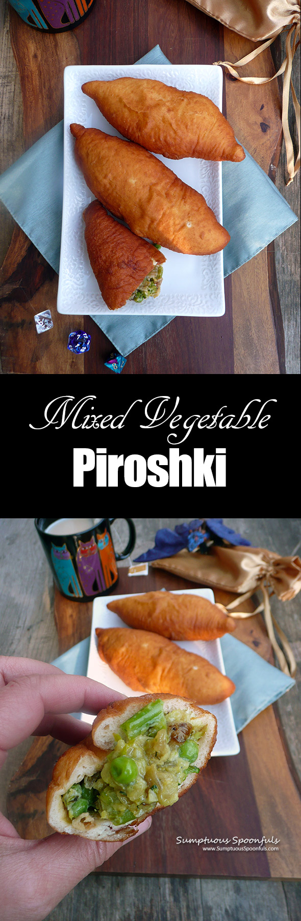 Mixed Vegetable Piroshki ~ Sumptuous Spoonfuls #Russian #vegetarian #pocketsandwich