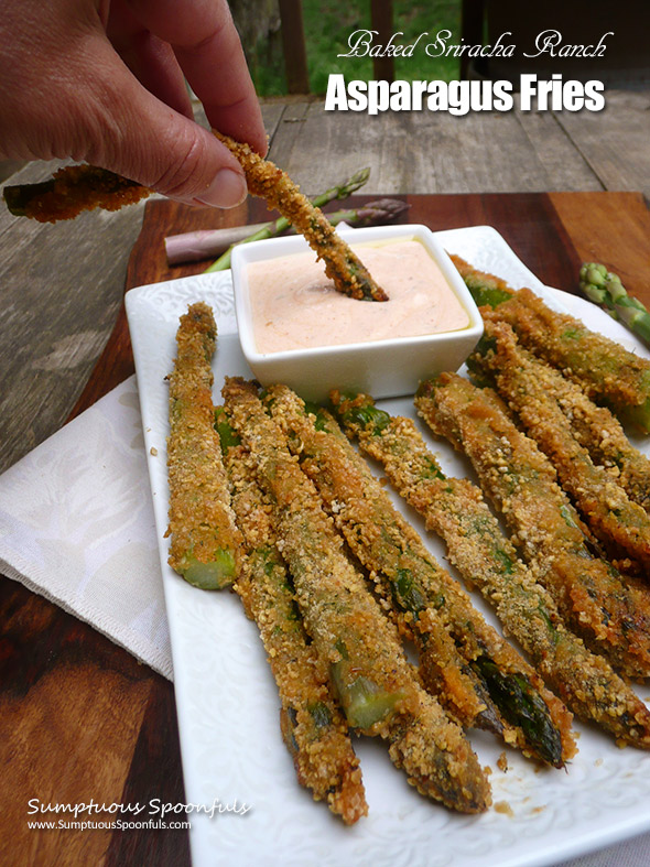 Baked Sriracha Ranch Asparagus Fries
