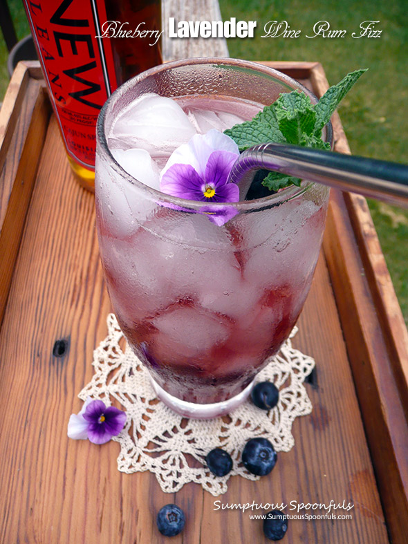 Blueberry Lavender Wine Rum Fizz