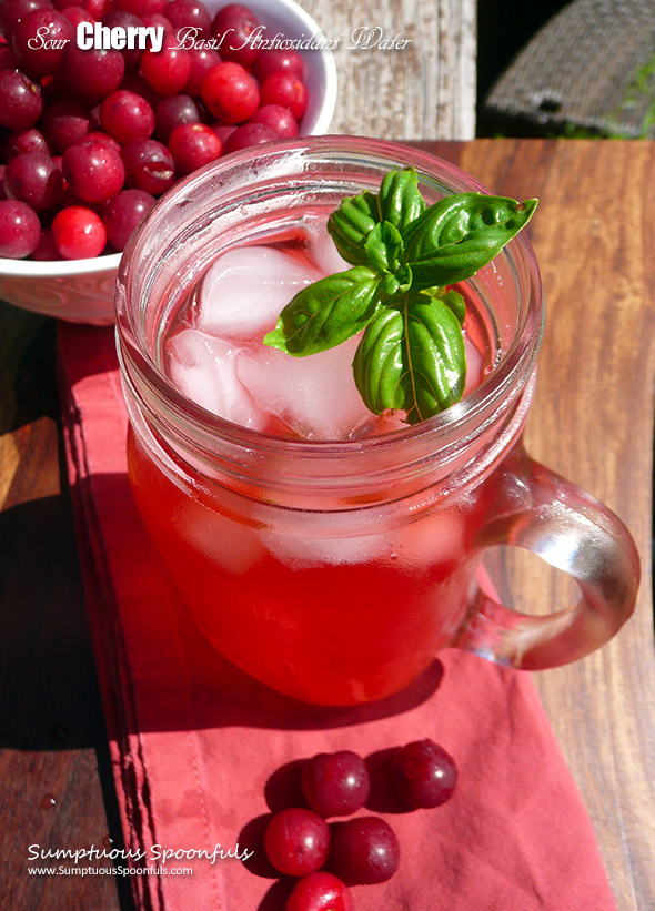 Sour Cherry Basil Antioxidant Water