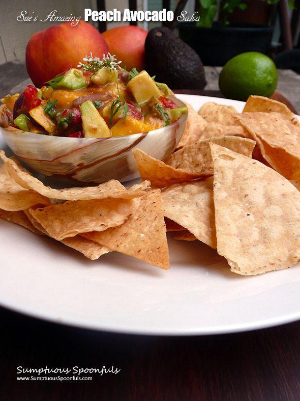 Sue's Amazing Peach Avocado Salsa
