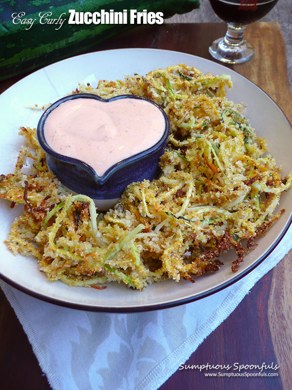 Easy Curly Zucchini Fries