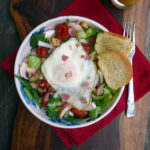 Bacon Mushroom Roasted Tomato Breakfast Salad ~ Sumptuous Spoonfuls #breakfast #recipe