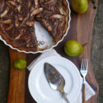 Double Chocolate Pear Tart #choctoberfest ~ decadent and elegant, this Double Chocolate Pear Tart is perfect for holiday entertaining