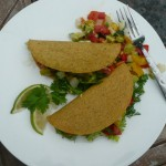 Crunchy Fish Tacos with Zucchini Avocado Summer Vegie Melange