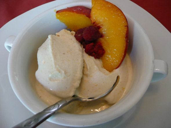 Peach Coconut Banana Ice Cream