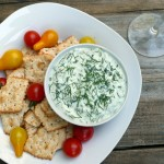 Creamy Cucumber Basil Dip (Low Fat)