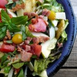 Mini Ravioli Salad with Basil Vinaigrette