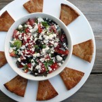 Greek Layer Dip with Hummus and Tzatziki