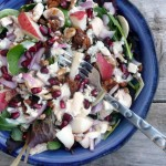 Blues n Beef Salad with Pear & Pomegranate