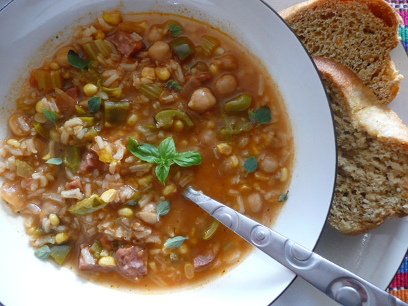 Cajun Andouille Sausage and Vegetable Stew