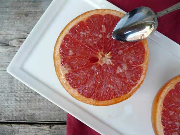» Broiled Grapefruit with Ginger Sugar Sumptuous Spoonfuls