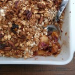Lowfat Apple Berry Granola Crisp