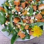 Apricot Chicken Salad with Blue Cheese & Cinnamon Pecans