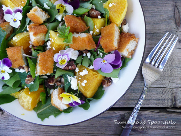 Jump Up Chicken Orange Salad with Feta & Toasted Pecans