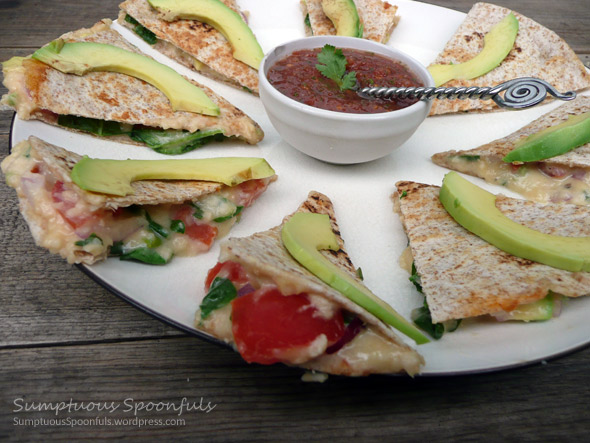 Spinach Avocado Quesadillas