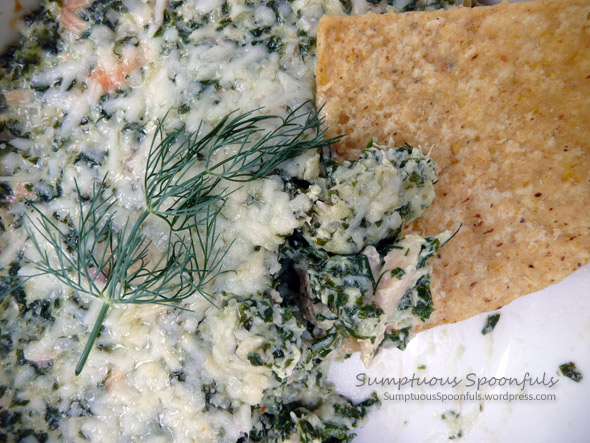 Hot & Cheesy Kale & Salmon Dip