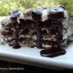 Chocolate Pistachio Cannoli Icebox Cake