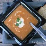 Fire Roasted Red Pepper Eggplant Thai Curry Soup