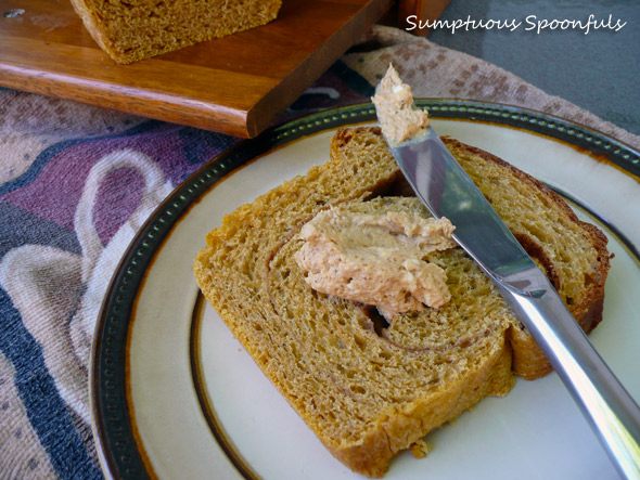 Pumpkin Swirl Bread with Pumpkin Maple Mascarpone Spread