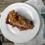 Apple Cranberry White Chocolate Oat Crumble