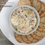 Crab Artichoke Dip with Asiago & Bacon ~ Sumptuous Spoonfuls