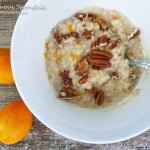 Kumquat Maple Pecan Oatmeal ~ Sumptuous Spoonfuls #kumquat #oatmeal #recipe #quick