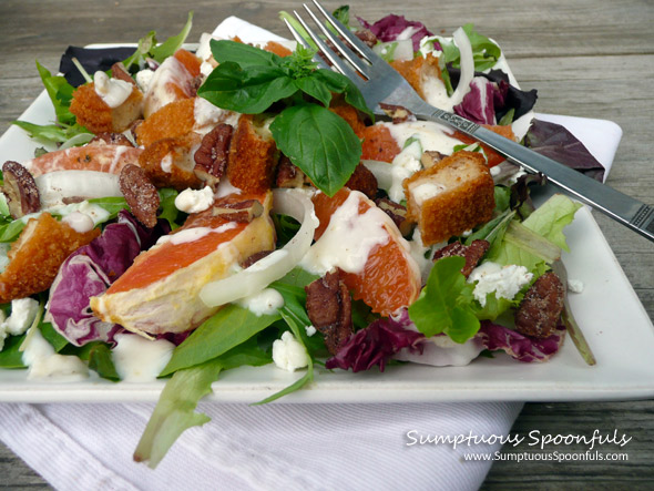 Cara Cara Orange Chicken Goat Cheese Salad