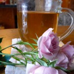 Hot Brandy Rose ~ A hot tea for bedtime from Sumptuous Spoonfuls