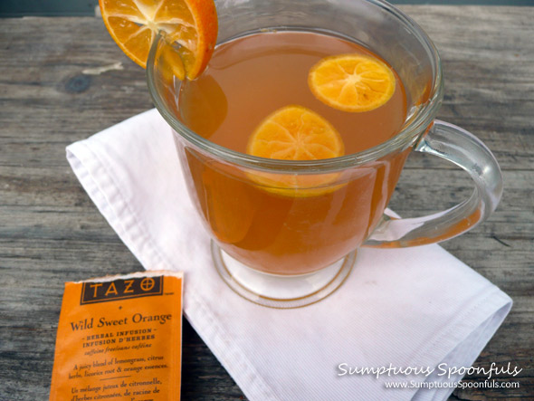 Hot Sweet Brandied Citrus Tea