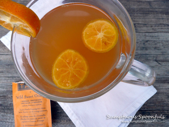 Hot Sweet Brandied Citrus Tea ~ from Sumptuous Spoonfuls #hot #cocktail #recipe