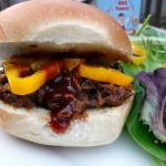 Outa the Park Shredded BBQ Beef Sandwiches ~ from Sumptuous Spoonfuls #BBQ #Beef #Recipe