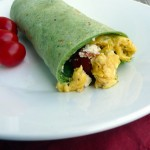 Tomato, Egg & Cilantro Pesto Breakfast Wrap ~ Sumptuous Spoonfuls #breakfast #wrap #recipe