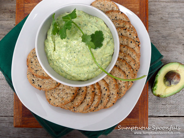 Creamy Green Avocado Cilantro Bean Dip