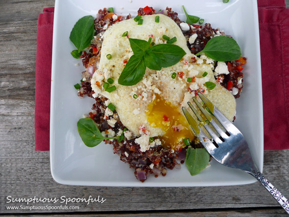 Savory Onion Pepper Feta Breakfast Quinoa
