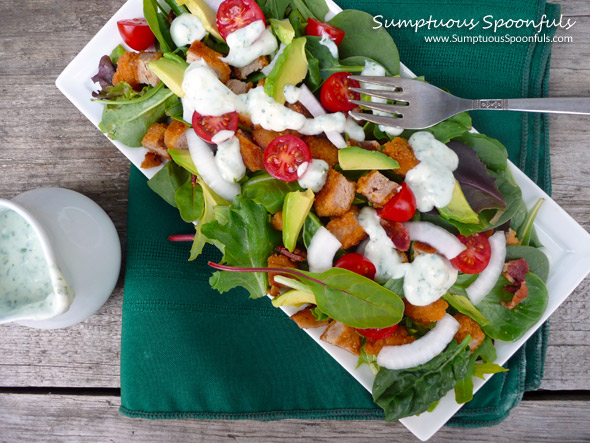 Chicken Bacon Ranch Salad with Avocado