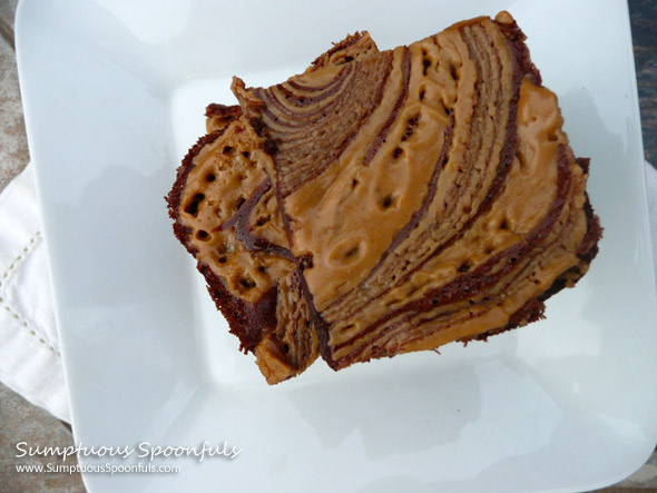 Super Fudgy Peanut Butter Swirl Chocolate Brownies ~ Sumptuous Spoonfuls #fudge #brownie #recipe
