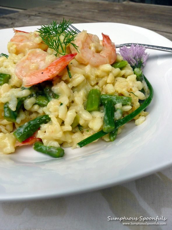 Shrimp, Asiago & Asparagus Risotto with Fresh Dill ~ Sumptuous ...