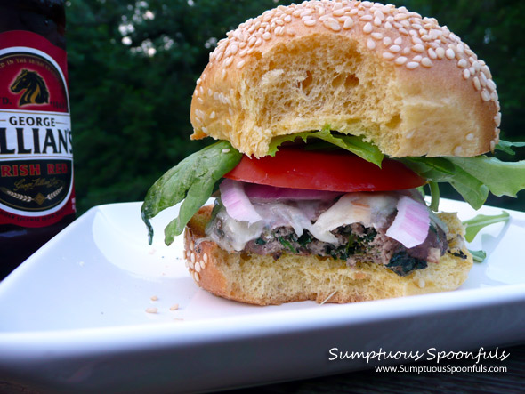 Blue Cheese & Spinach Venison Burgers