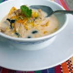 Creamy Chicken Tortilla Soup ~ Sumptuous Spoonfuls #soup #recipe
