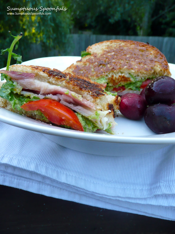 Turkey Avocado Bacon Lettuce & Tomato Sandwich ~ Sumptuous Spoonfuls #BLT #recipe