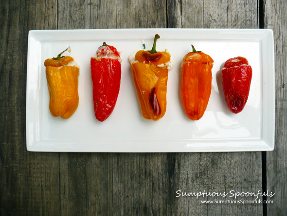 Crab n Cheese Stuffed Sweet Pepper Poppers