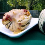 Sausage & Pepper Stuffed Sweet Dumpling Squash ~ Sumptuous Spoonfuls #squash #recipe