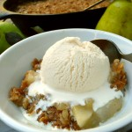 Lemon Cardamom Pear Crisp ~ Sumptuous Spoonfuls #dessert #recipe