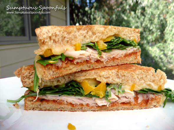 Smoky Turkey Spinach Sundried Tomato Sandwich