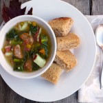 Goodbye Garden Soup with Sausage ~ Sumptuous Spoonfuls #soup #recipe