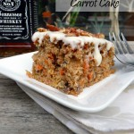 Jack Daniel's Carrot Cake with Heavenly Frosting ~ Sumptuous Spoonfuls #cake #recipe