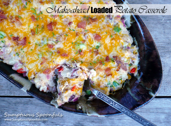 Make-ahead Loaded Baked Potato Casserole