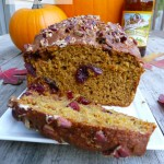 Pumpkin Orange Cranberry Bread ~ Sumptuous Spoonfuls #quickbread #recipe